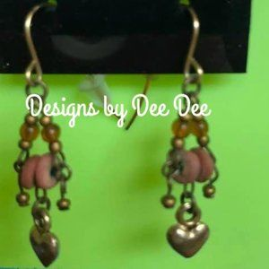 Gold Tone Bead Drop Earrings